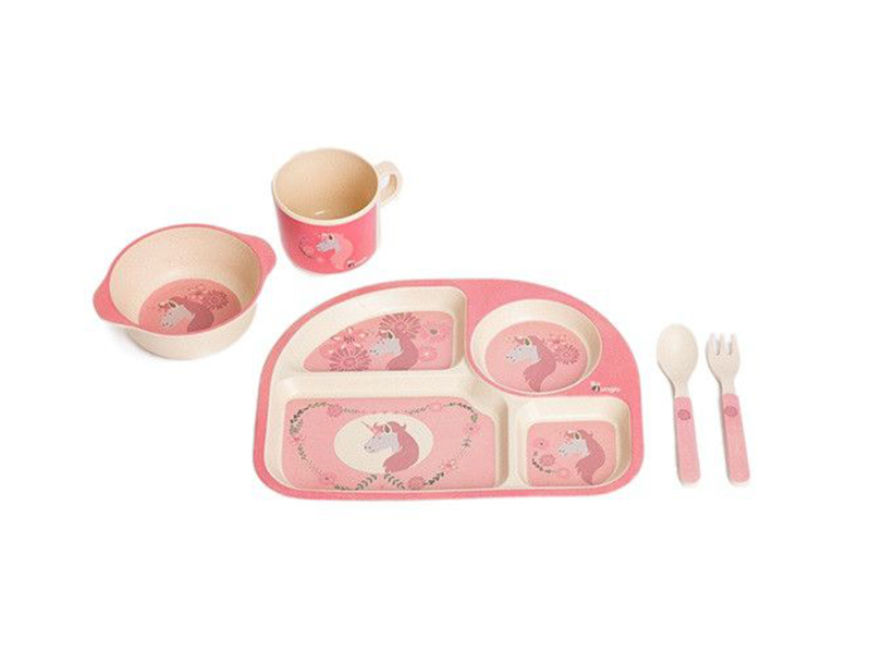 image Σερβίτσιο Φαγητού Ροζ Μονόκερως