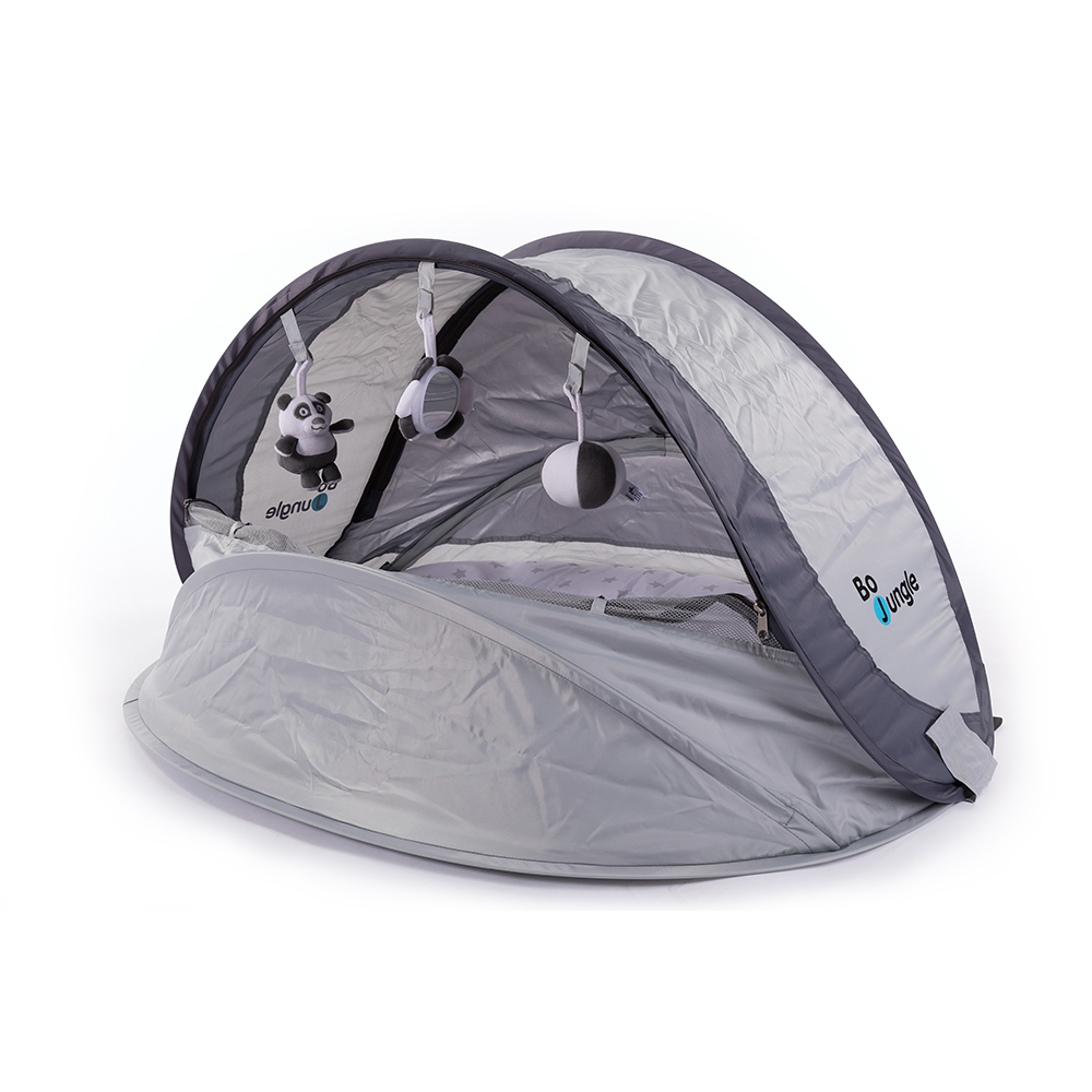 image B-Play Nest Pop up Bed Grey