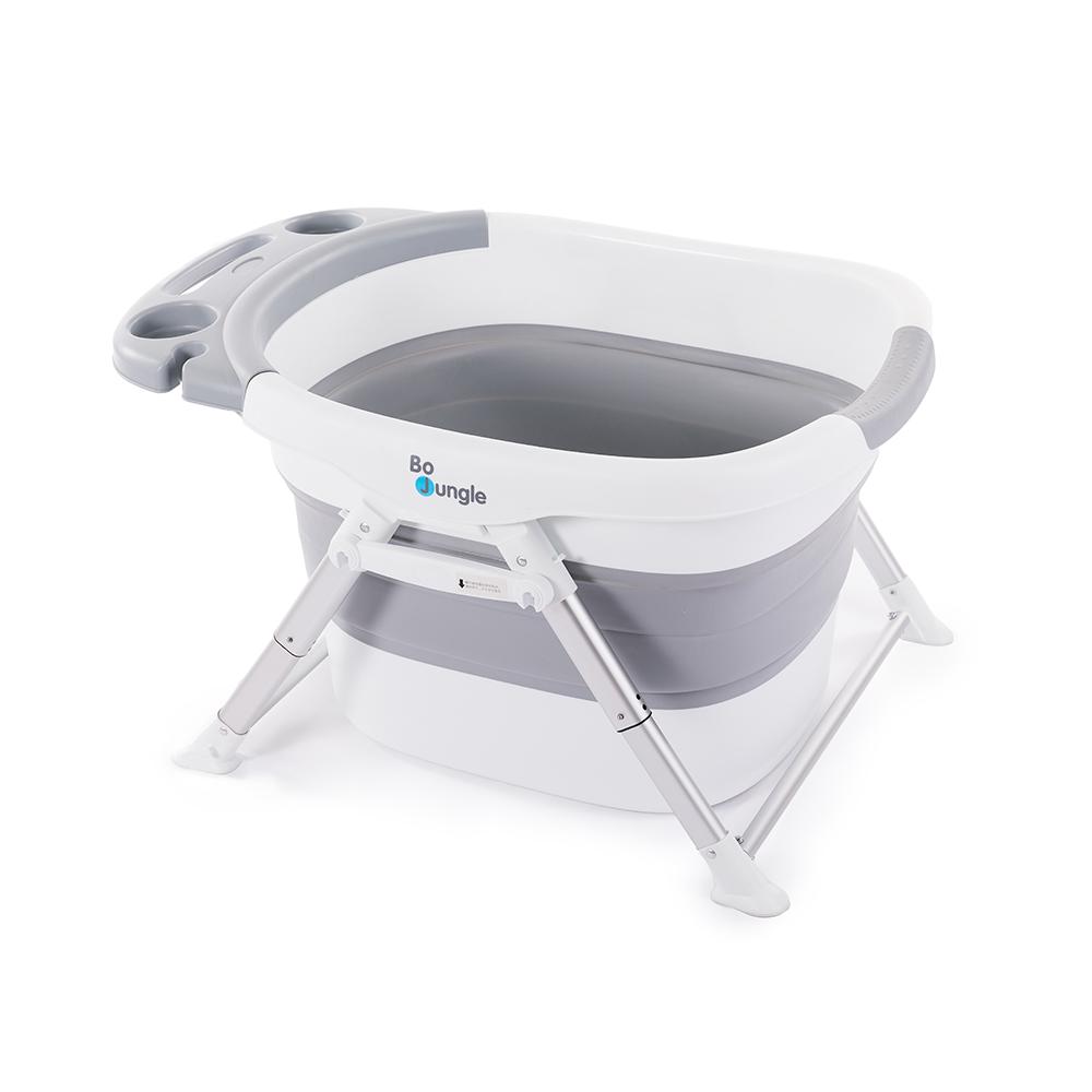 image Bo Jungle B-Foldable Shower Bath Αναδιπλούμενη Μπανιέρα Γκρι/Λευκό B400660