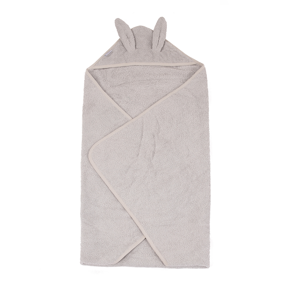 image B-Bathcape Rabbit Grey Eco Sponge