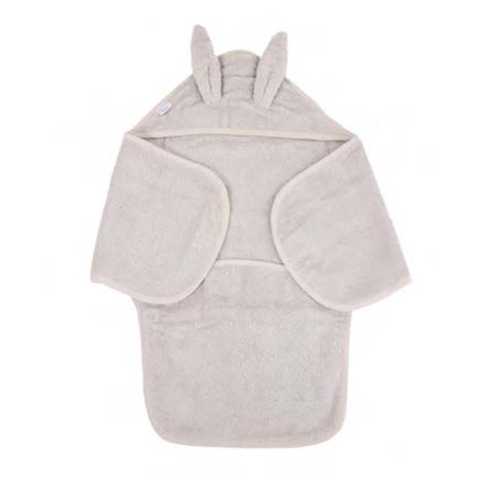 image B-Bath Swaddle Rabbit Grey Eco Sponge