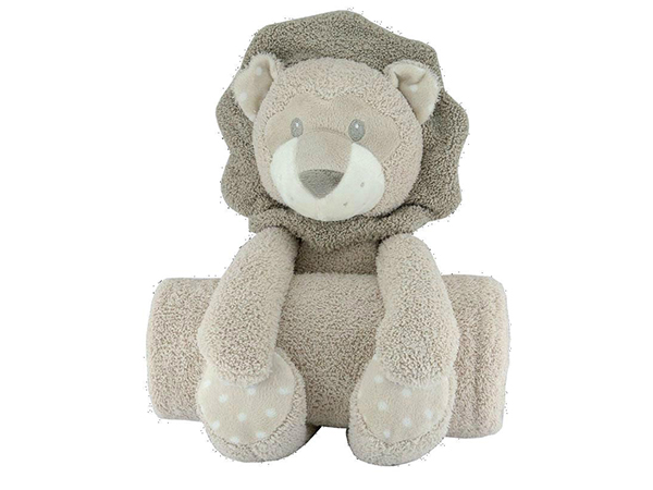 image PLUSH TOY WITH BLANKET ΑΡΚΟΥΔΑΚΙ ΜΕ ΚΟΥΒΕΡΤΟΥΛΑ