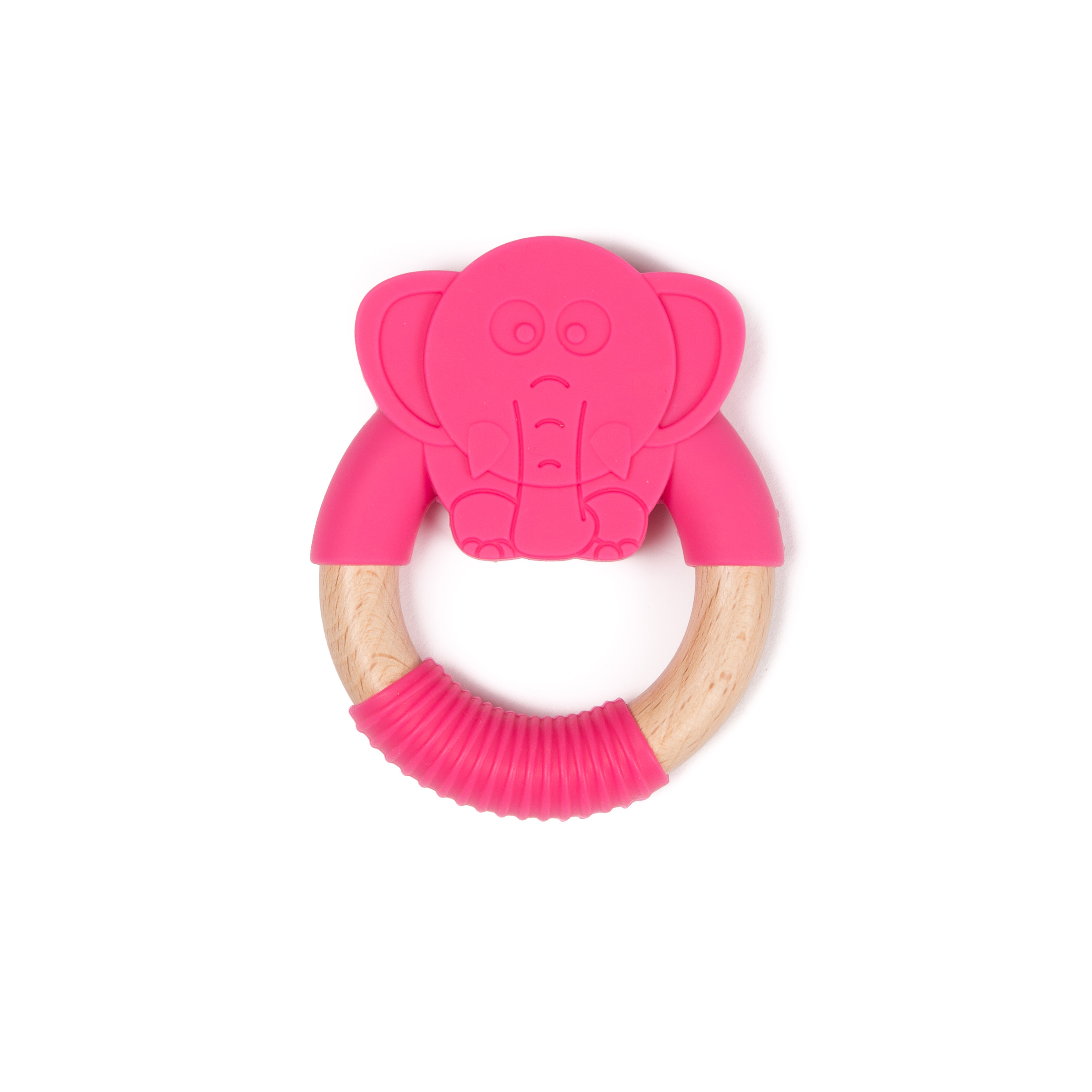 image B-Wood Teether Pink Elephant