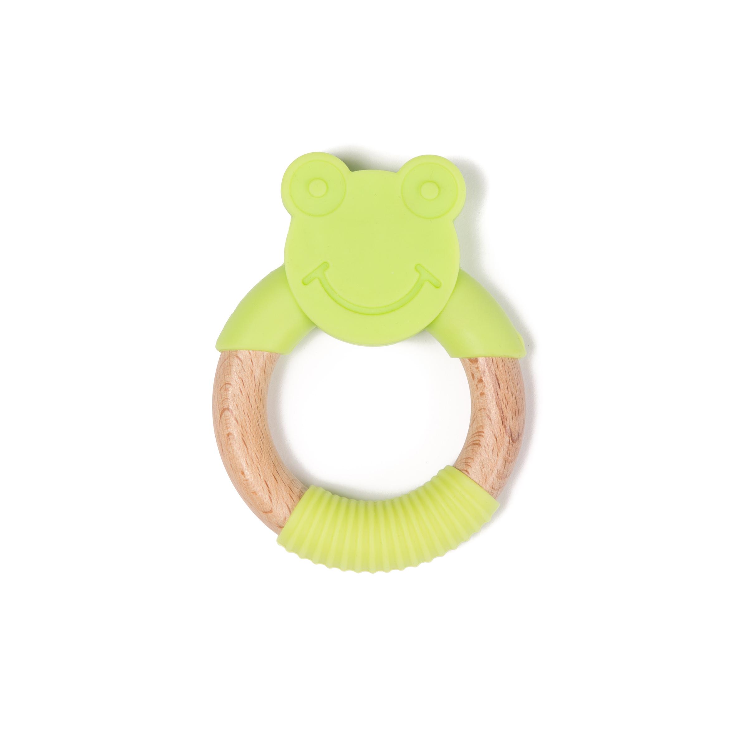image B-Wood Teether Green Frog