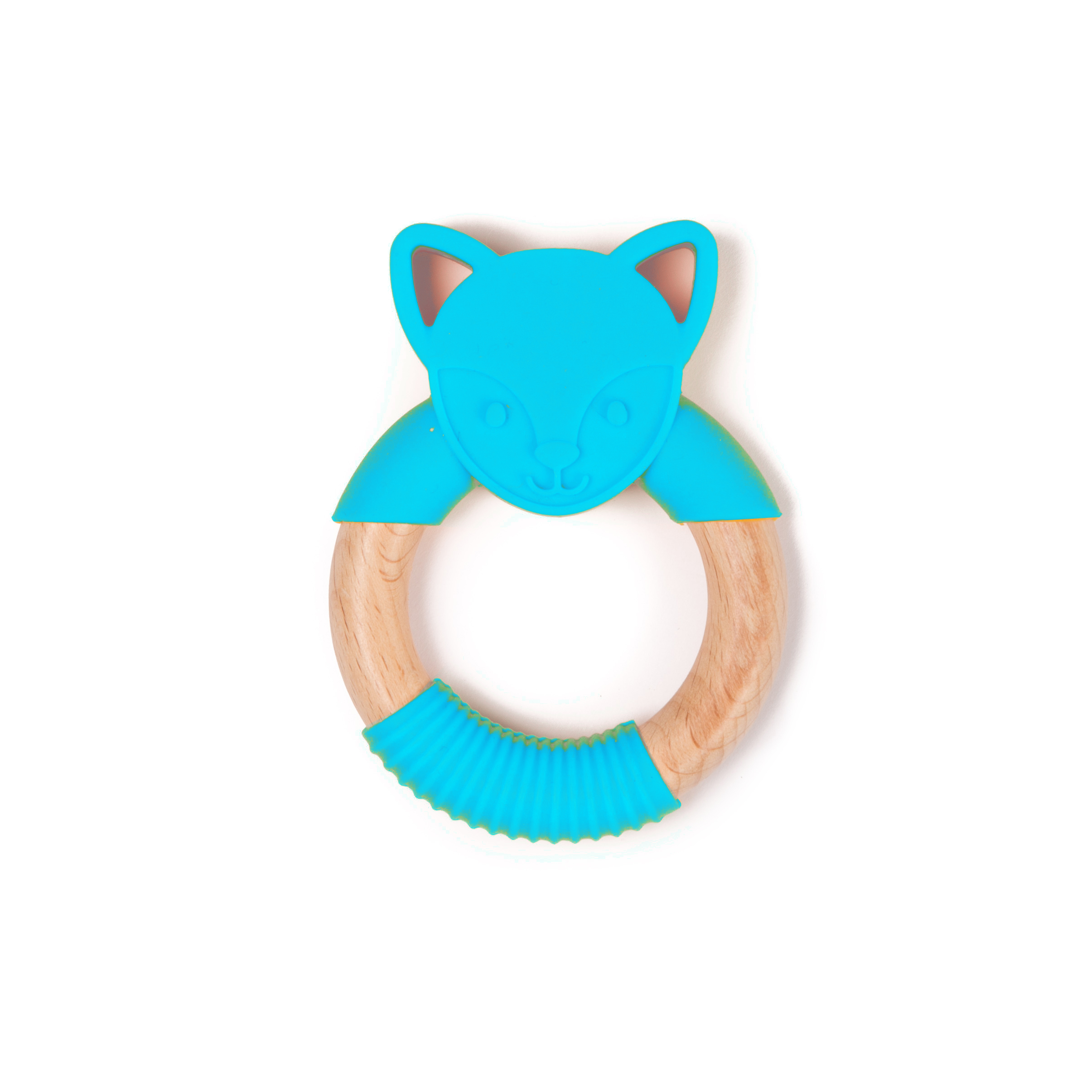 image B-Wood Teether Blue Fox