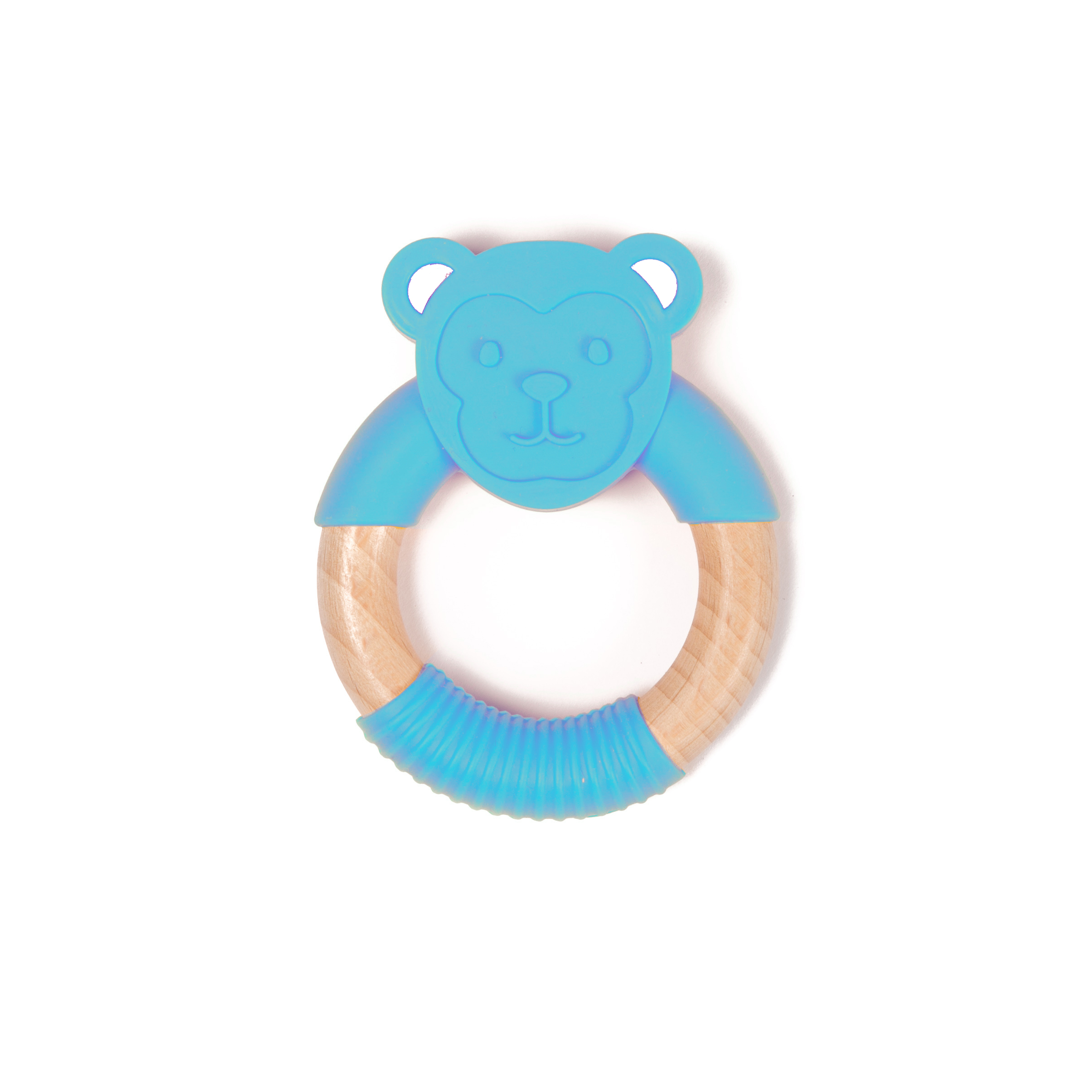 image B-Wood Teether Blue Monkey