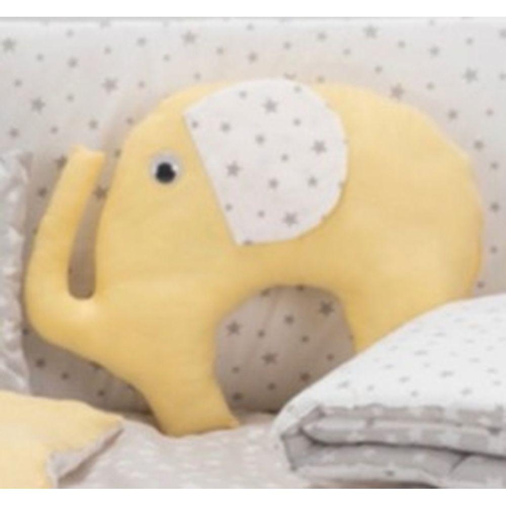 image Διακοσμητικό Μαξιλάρι Ζωάκι Ελέφαντας Κίτρινο
