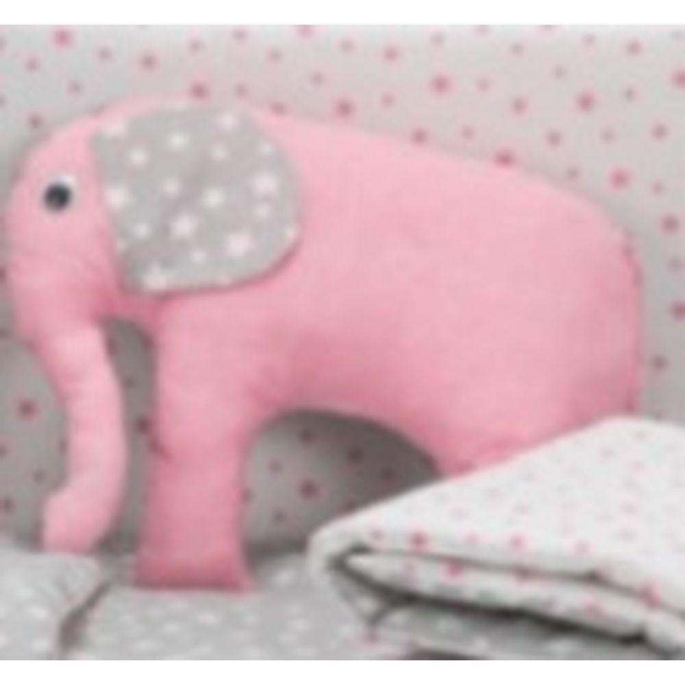 image Διακοσμητικό Μαξιλάρι Ζωάκι Ελέφαντας Ροζ