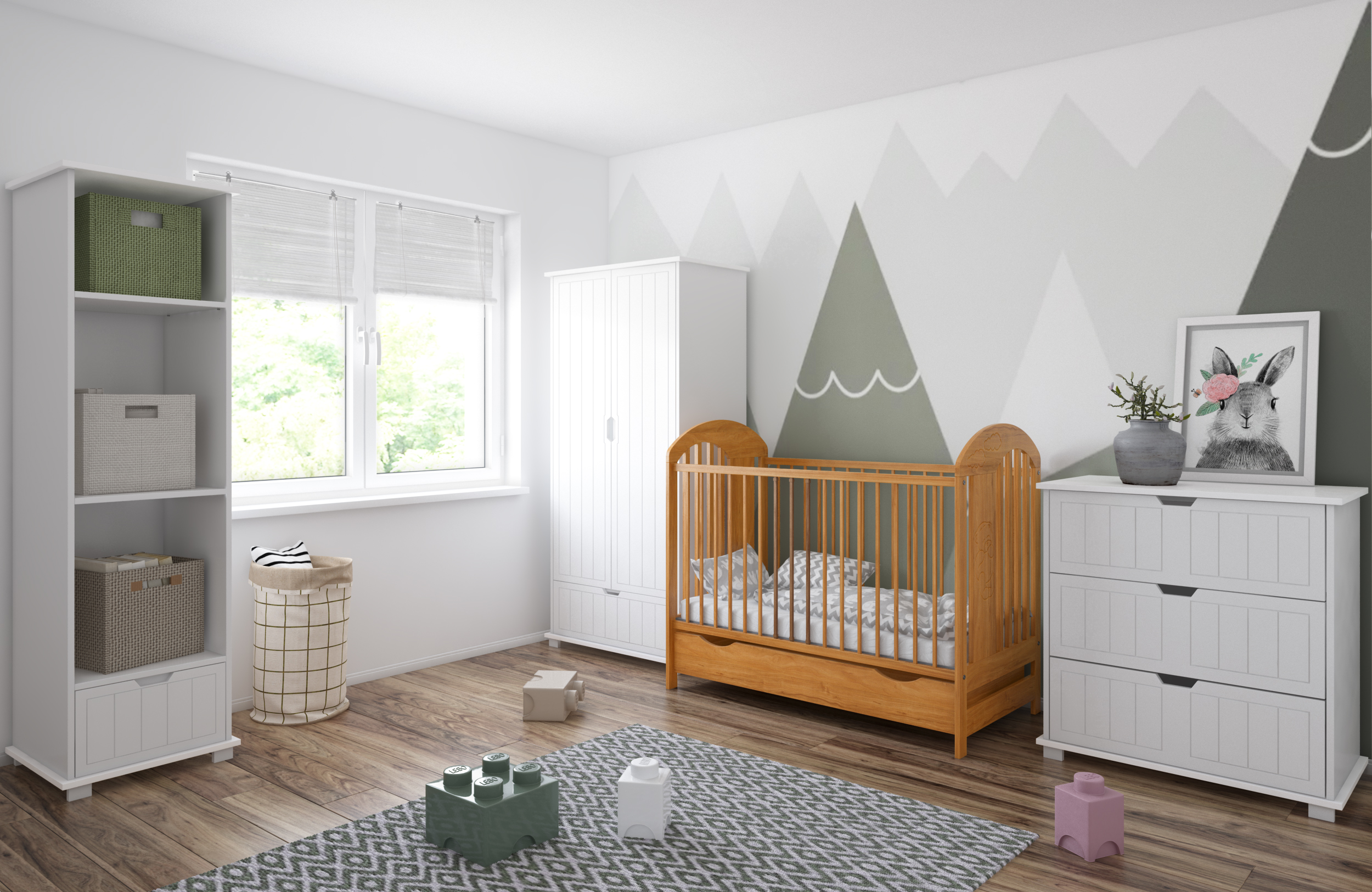 image Just Baby Κρεβάτι με Συρτάρι Pumba NATURAL