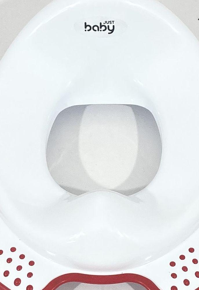 image TOILET SEAT ΚΑΠΑΚΙ ΤΟΥΑΛΕΤΑΣ WHITE RED